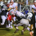 Saraland scores its go-ahead TD in Friday's win over Baker. (Photo by Todd Stacey)