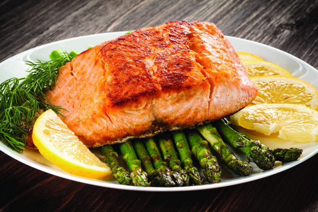 Salmon and Asparagus Sheet Pan